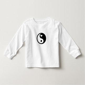 AMOR longo do t-shirt da luva da criança