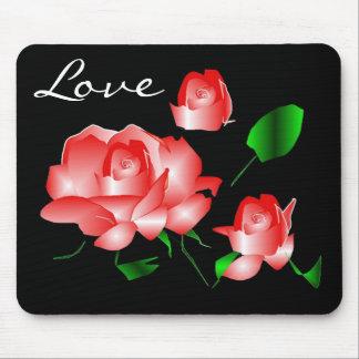 """""""Amor"""" Mousepad cor-de-rosa"""