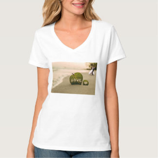 Amor na praia tshirts