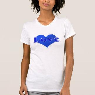 Amor no coração azul, azul tshirt