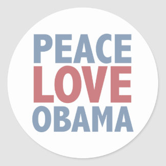 Amor Obama da paz Adesivo