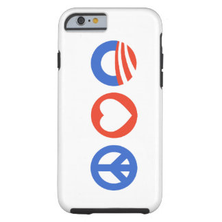 Amor Obama da paz Capa Tough Para iPhone 6