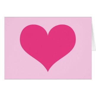 Amor ou dia dos namorados do coração do rosa cartão