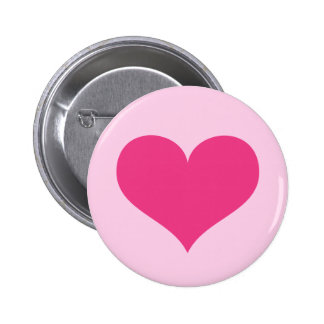 Amor ou dia dos namorados do coração do rosa quent bóton redondo 5.08cm