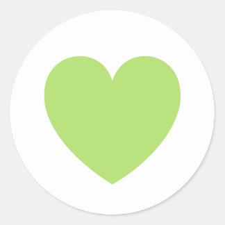 Amor ou dia dos namorados do coração do verde adesivo
