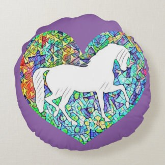 Amor para cavalos almofada redonda