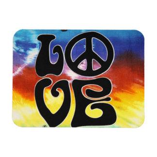 Amor & paz 60s retros foto com ímã retangular