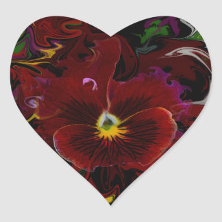 Amor perfeito adesivo coração