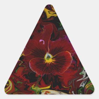 Amor perfeito adesivo triangular