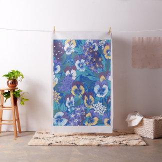 Amor perfeito floral do vintage tecido