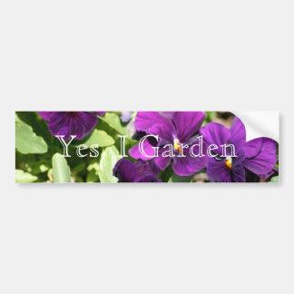 Amor perfeito roxo eu jardino autocolante no vidro adesivo de para-choque