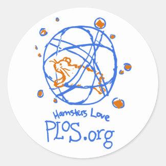 Amor PLoS dos hamster Etiquetas Adesivos Em Formato Redondos