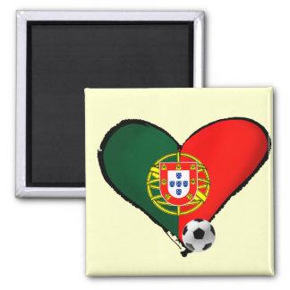 Amor, Portugal e Futebol - quer do vôce dos mais Ímã Quadrado