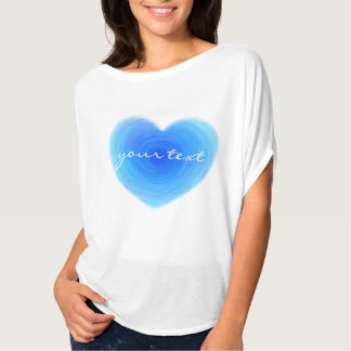 Amor profundo do coração da água azul no azul tshirt