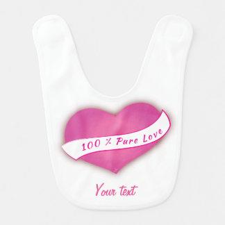 Amor puro de 100% babador de bebe