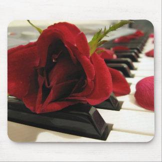 Amor romântico da rosa vermelha mousepad