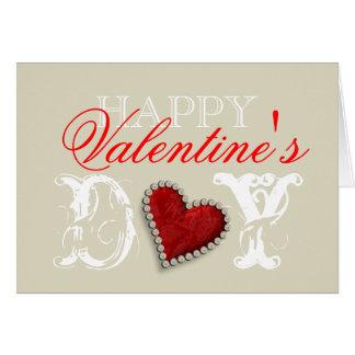 """Amor romântico do coração do """"feliz dia dos cartão comemorativo"""