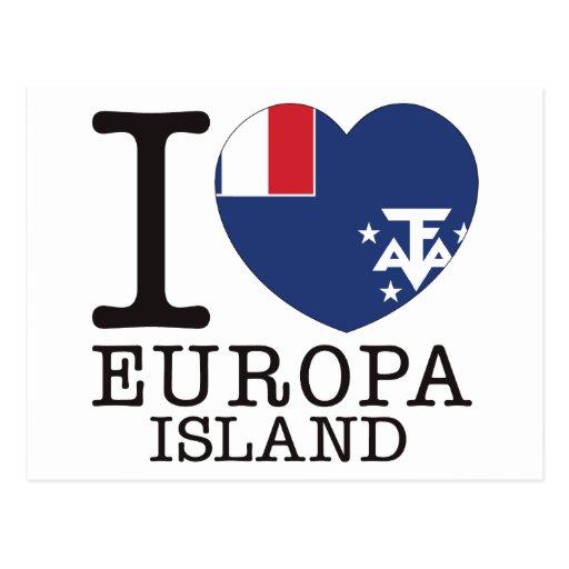 Amor v2 da ilha de Europa Cartao Postal