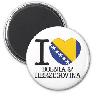 Amor v2 de Bósnia - de Herzegovina Ímã Redondo 5.08cm