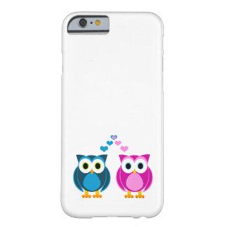 Amor verdadeiro - corujas bonitos e desenhos capa barely there para iPhone 6