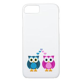 Amor verdadeiro - corujas bonitos e desenhos capa iPhone 7