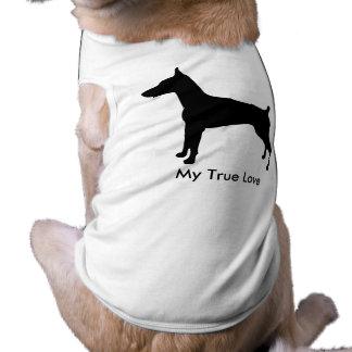 Amor verdadeiro da silhueta de Dobe Camisa Sem Mangas Para Cachorro