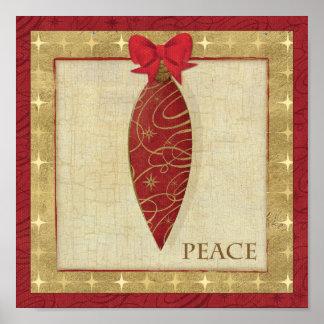 Amor vermelho da decoração do Natal Poster