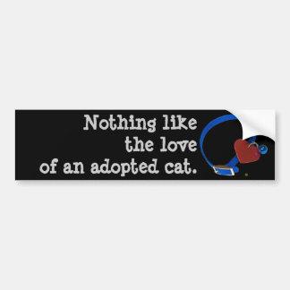 Amor vermelho do gato do coração do colarinho azul adesivo para carro