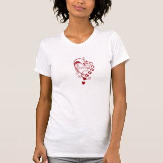 Amor vermelho RokCloneDesigns dos corações do dia  Tshirt