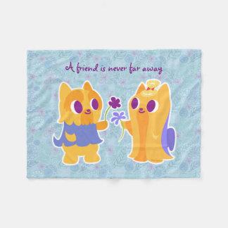 Amor Yorkies do cão de Kawaii do melhor amigo ou Cobertor De Lã