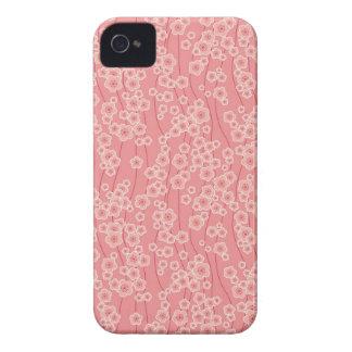 Amora-preta cor-de-rosa bonito do teste padrão das iPhone 4 capa