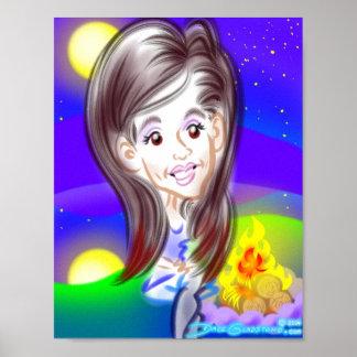 amostra do impressão da caricatura