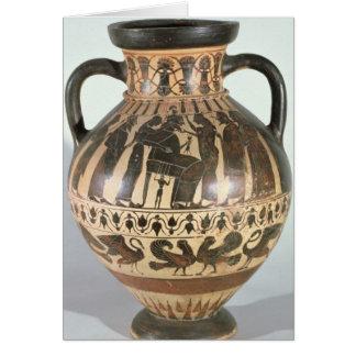 Amphora do Corinthian do sótão Cartão Comemorativo