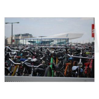 Amsterdão - bicicletas cartão comemorativo