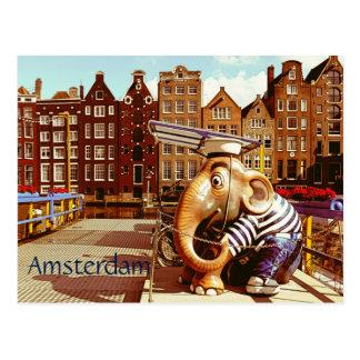 Amsterdão retro cartão postal