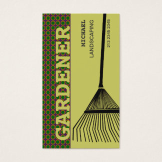 Ancinho de jardinagem extremo cartão de visitas