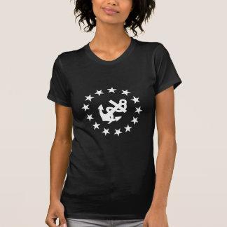 Âncora e TShirt da americana das estrelas