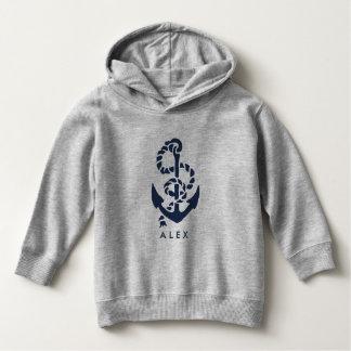 Âncora náutica do marinho personalizada camiseta