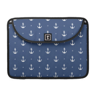 Âncoras dos azuis marinhos bolsas para MacBook pro