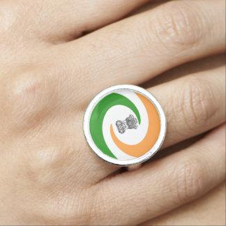 Anéis Bandeira espiral indiana