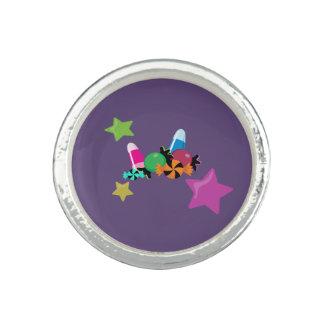 Anéis Com Foto Design do Dia das Bruxas da colagem dos doces