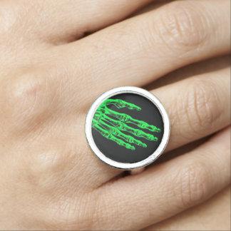 Anéis Com Fotos Dedos de néon do zombi