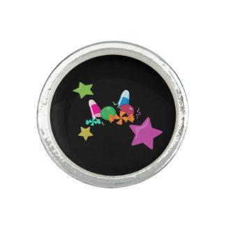 Anéis Com Imagem Design do Dia das Bruxas da colagem dos doces