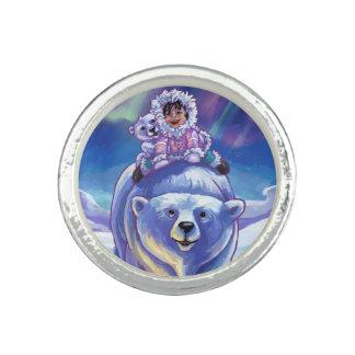 Anéis Com Imagens Ônibus do urso polar
