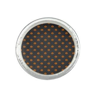 Anéis Com Imagens Teste padrão alaranjado do quadro da abóbora do