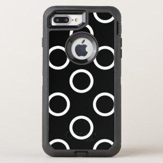 Anéis das bolinhas - branco capa para iPhone 7 plus OtterBox defender