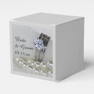 Aneis de diamante e pérolas brancas que Wedding Lembrancinhas Para Casamento