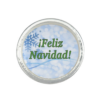 Anéis ¡ Feliz Navidad! Feliz Natal no gf espanhol