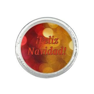 Anéis ¡ Feliz Navidad! Feliz Natal no rf espanhol
