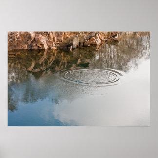 Anéis no poster da foto da água